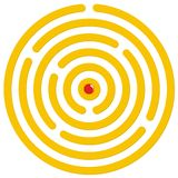 Round labyrinth Stock Photography
