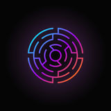 Round Labyrinth Colorful Icon
