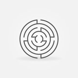 Round labyrinth line icon Stock Photos