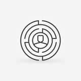 Round Labyrinth Outline Icon