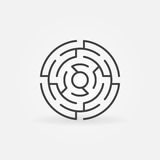 Round Labyrinth Vector Icon