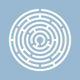 Round labyrinth vector icon Royalty Free Stock Images