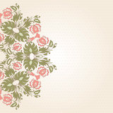Round lace card Royalty Free Stock Photography