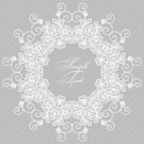 Round lace card Royalty Free Stock Photo