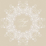 Round lace card Stock Image