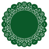 Round Lace Doily, Emerald Stock Photos