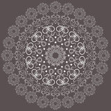 Round lace doily. Royalty Free Stock Image