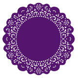 Round Lace Doily, Purple Stock Photo