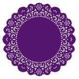 Round Lace Doily, Purple Stock Photo