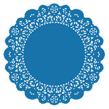Round Lace Doily,Turquoise Stock Images