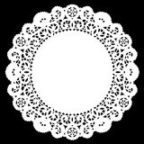 Lace Doily Placemat, White vector illustration