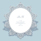 Round lace frame Royalty Free Stock Photography