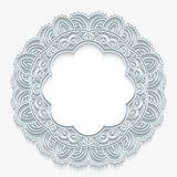Round lace frame Royalty Free Stock Photo