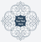 Round lace frame, white lace doily, greeting card or invitation, Royalty Free Stock Photography