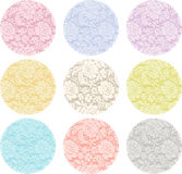 Round Lace Label Royalty Free Stock Photography