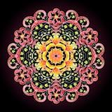 Round lace mandala pattern Stock Photos