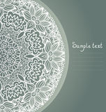 Round lace ornament background. Royalty Free Stock Photography