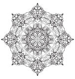 Round lace ornament isolated on white. Royalty Free Stock Images
