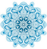 Round lace ornament  on white. Stock Photo