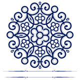Round lace ornate background. In vector Stock Images