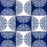 Round lace ornate pattern Stock Images