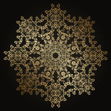 Round lace pattern in gold Stock Images