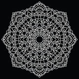 Round lace pattern. Mandala. Royalty Free Stock Photography