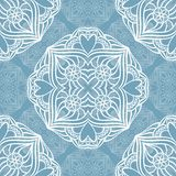 Round lace pattern. Seamless background Royalty Free Stock Photography