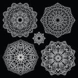 Round lace pattern set. Mandala. Royalty Free Stock Photos