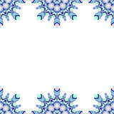 Round lace seamless pattern, circle background, chistmas snowflake Stock Photography