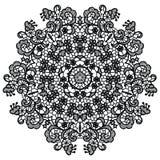 Round lacy doily. Stock Photos