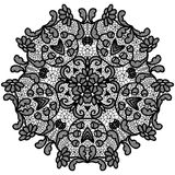 Round lacy doily. Royalty Free Stock Photography
