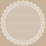 Round lacy frame. Stock Photography