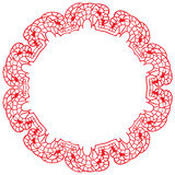 Round lacy frame on a white background Stock Photo
