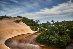 Round laguna, Pirambu obraz royalty free