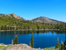 Round Lake. Lakes Basin region of the Northern Sierra Nevada mountains Royalty Free Stock Photo