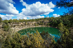 The round lakes in palancares, Cuenca Royalty Free Stock Photography