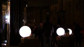 Round Lamps Vienna stock video footage