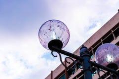 Round latarnia uliczna Obraz Stock