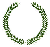 Round laurel wreaths. Vector illustration. Green round laurel wreaths. Vector illustration, fully editable, you can change form and color Stock Photography