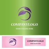 Round leaf logo Royalty Free Stock Image