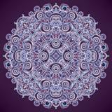 Round leaf purple pattern Stock Photo