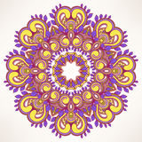 Round leaf purple pattern Royalty Free Stock Photo