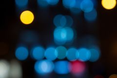 Round lights bokeh. royalty free stock images