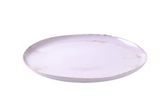 Round lilac platter Stock Images