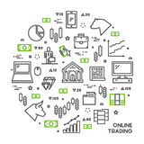 Round line concept for online trading Royalty Free Stock Image
