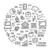 Round line concept for online trading Royalty Free Stock Photo