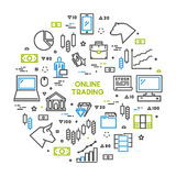 Round line concept for online trading Stock Photo