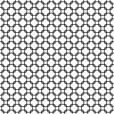 Round linear style links seamless pattern background texture. Black and white colors Stock Photos