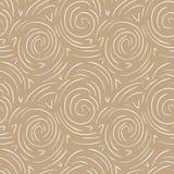 Round linii abstrakcjonistyczny wektorowy bezszwowy wzór Nowożytny złoto i biały tło ilustracji